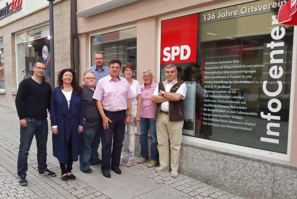 v.l.: Robert Miksch, Katrin Randhahn, Christian Schließmann, Thomas Fischer, Gunter Kunze, Barbara Hoßfeld, Günter Pohl