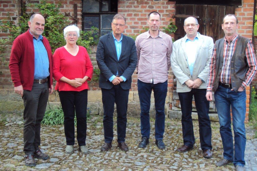Die Vertreter der BI's: Volker und Ute Heineck, Hartwick Oswald, Fred Lindner, Winfried Bötticher, Lutz Kromke