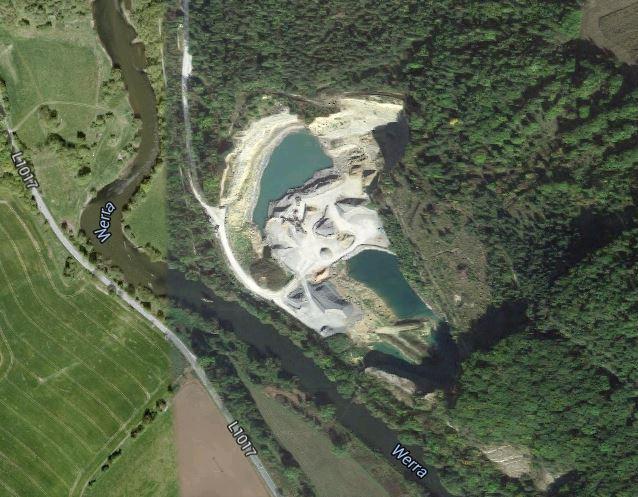 Steinbruch Buchenau auf Google Maps