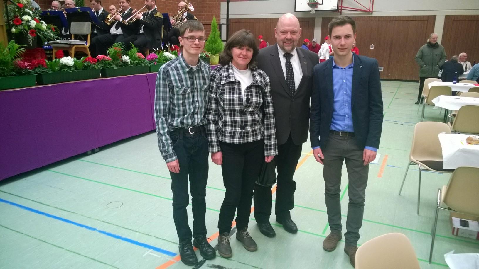 v.l.: Martin Geißler, Karin Richardt, Friedrich Nothhelfer, Maik Klotzbach