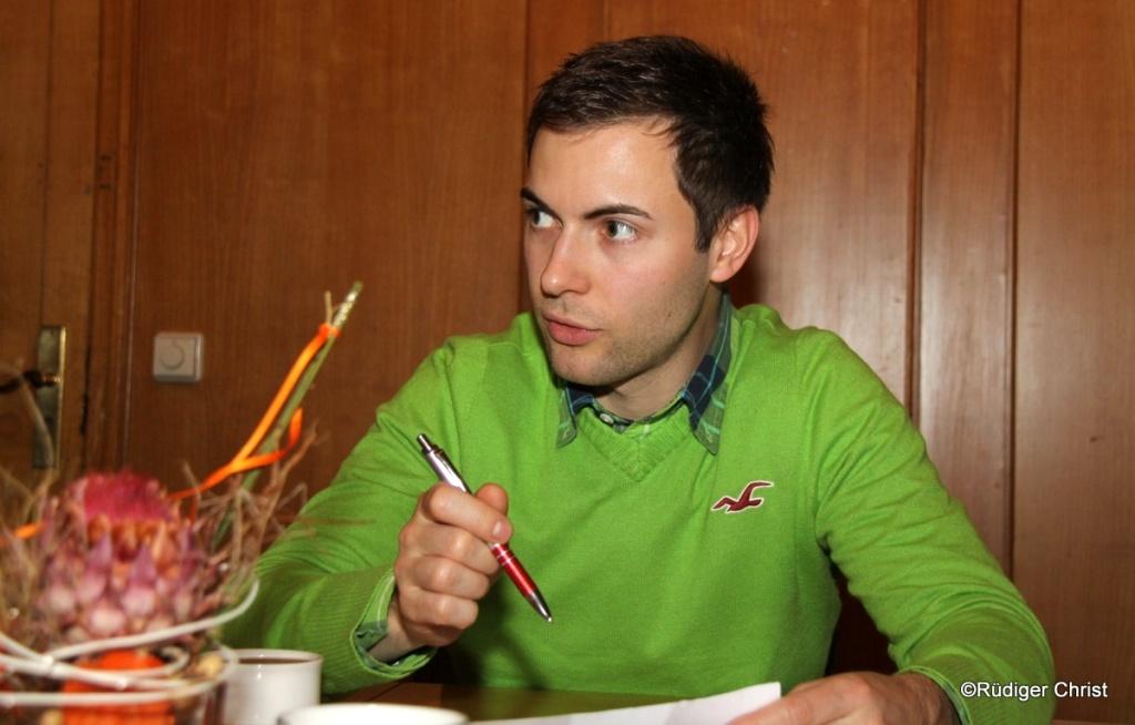 Juso-Vorsitzender Maik Klotzbach