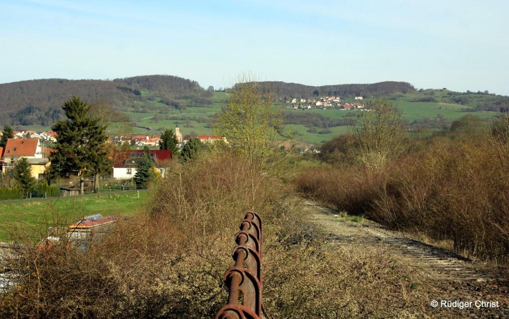 Blick auf die Bahntrasse bei Diedorf