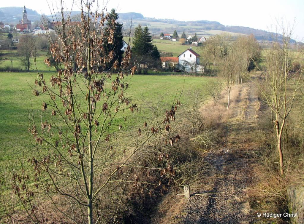 Blick auf den künftigen Abschnitt des Feldatalradweges von Zella nach Diedorf, Foto: Rüdiger Christ
