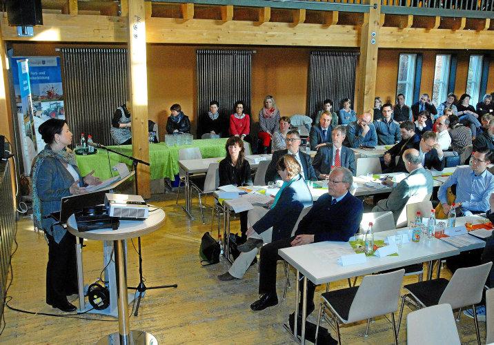 """In ihrem Vortrag zu den Landwirtschaftlichen Fachtagen referierte Ministerin Anja Siegesmund zum Thema """"Umweltverträgliche Landwirtschaft gemeinsam gestalten"""".Foto: Norman Meißner"""