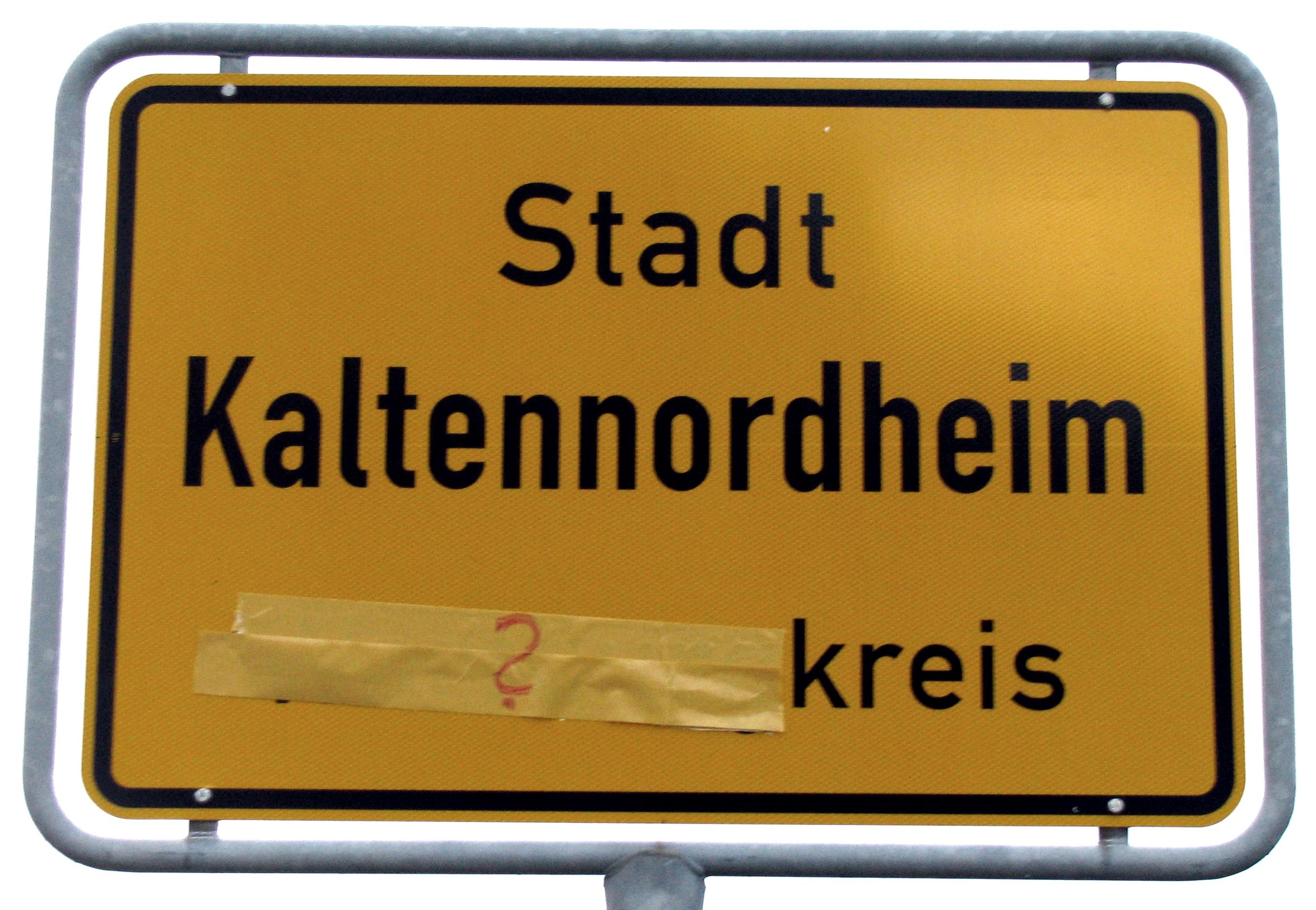 Quo vadis Kaltennordheim? Im Kreistag sagt Herr Thürmer ja zum Erhalt des Wartburgkreises, als Bürgermeister von Kaltennordheim ist ihm die Kreisangehörigkeit der egal!