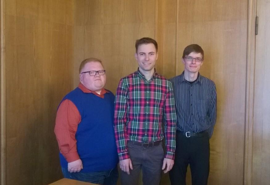 Der neue Juso-Vorstand (v.l.): Schriftführer Christian Schließmann, Vorsitzender Maik Klotzbach, Stellvertreter Martin Geißler