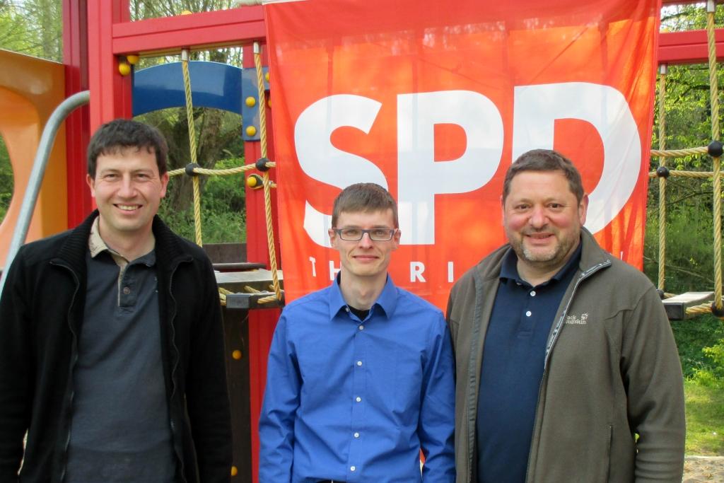 Der neue Vorstand der SPD Vacha, v.l.: Timo Jacob, Martin Geißler, Frank Pach (Foto: Christian Gesang)