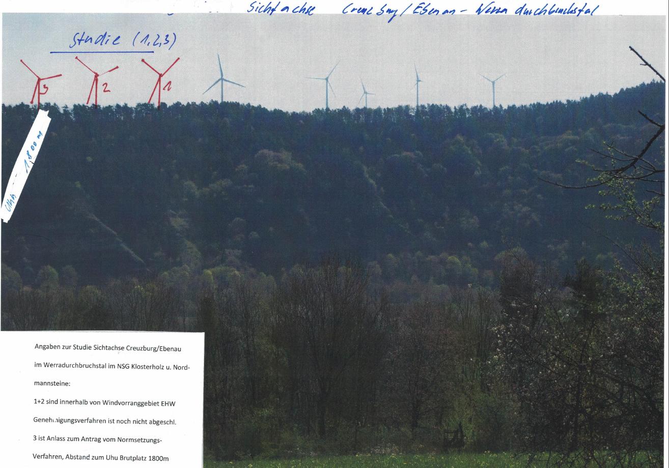 Sichtachse Creuzburg/Ebenau - Werra-Durchbruchstal