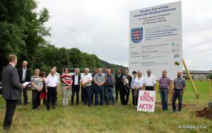 Mitglieder der BI Rhön-Aktiv beim Spatenstich der  Kläranlage Neidhartshausen