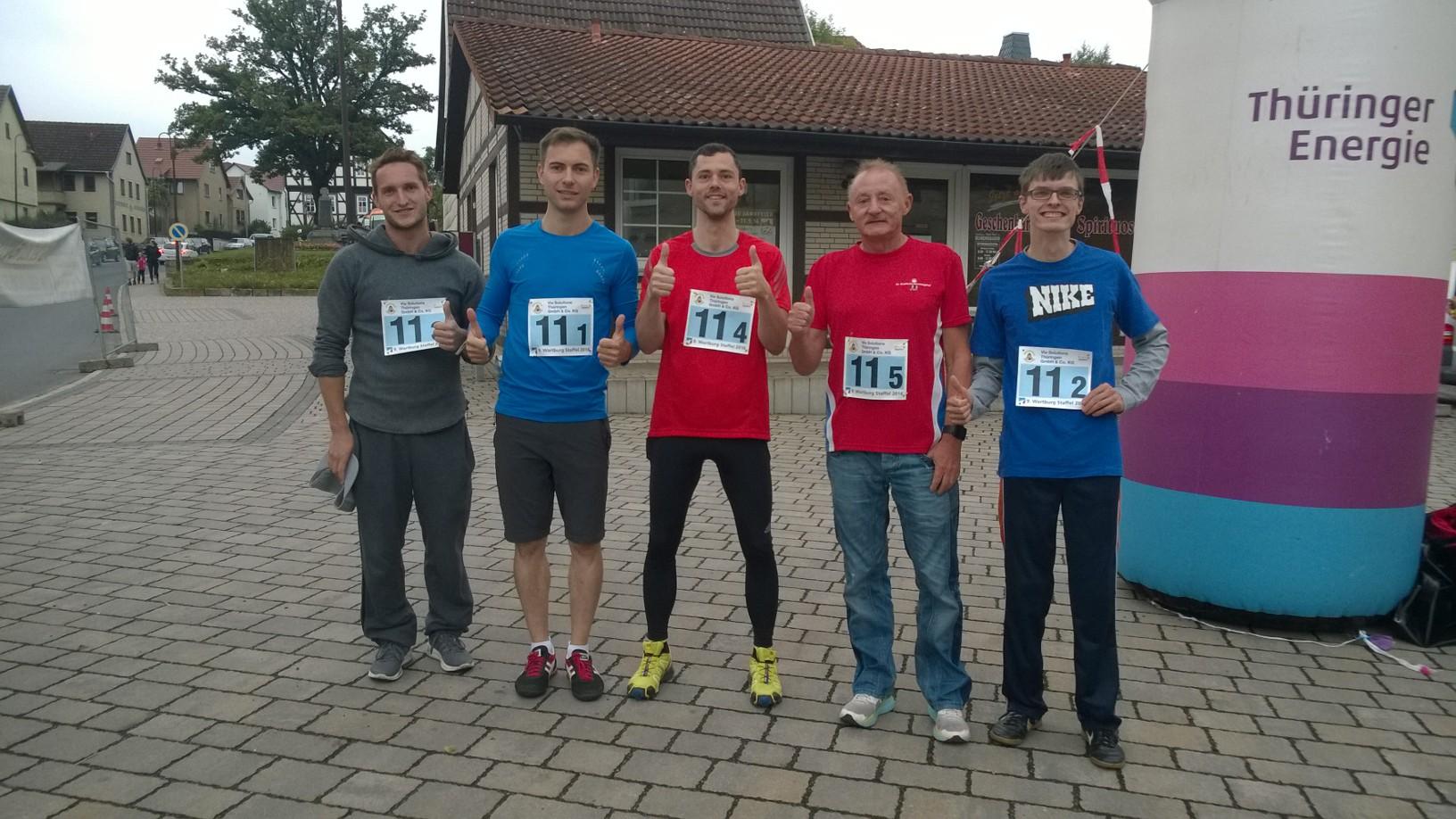 Team SPD Wartburgkreis/Eisenach (v.l.: Max Müller, Maik Klotzbach, Michael Klostermann, Hans-Joachim Ziegler, Martin Geißler)