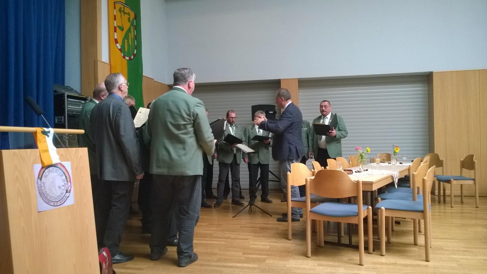 Die musikalische Umrahmung übernahm der Chorverein Bosserode
