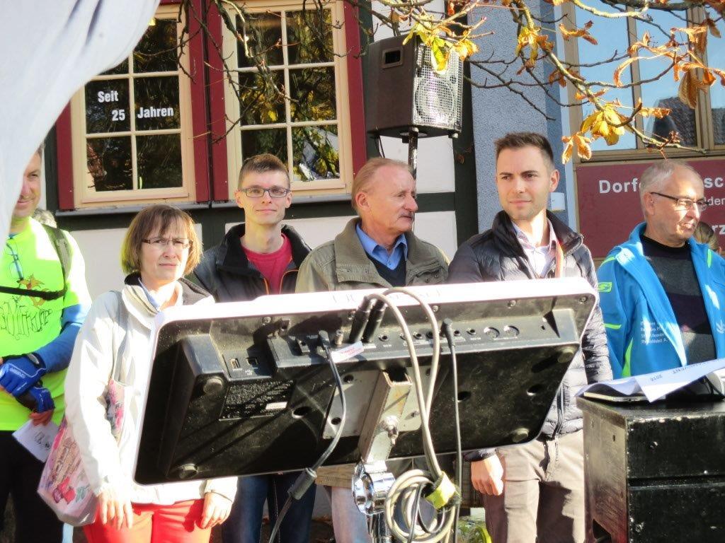 Urkunde und Medaille für den 5. Platz nahmen Heike Klotzbach, Martin Geißler, Hans-Joachim Ziegler und Maik Klotzbach entgegen