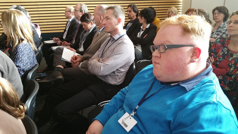 Behindertenbeauftragter Christian Schließmann bei der Fachkonferenz zum Thüringer Maßnahmeplan zur Umsetzung der UN-Behindertenrechtskonvention