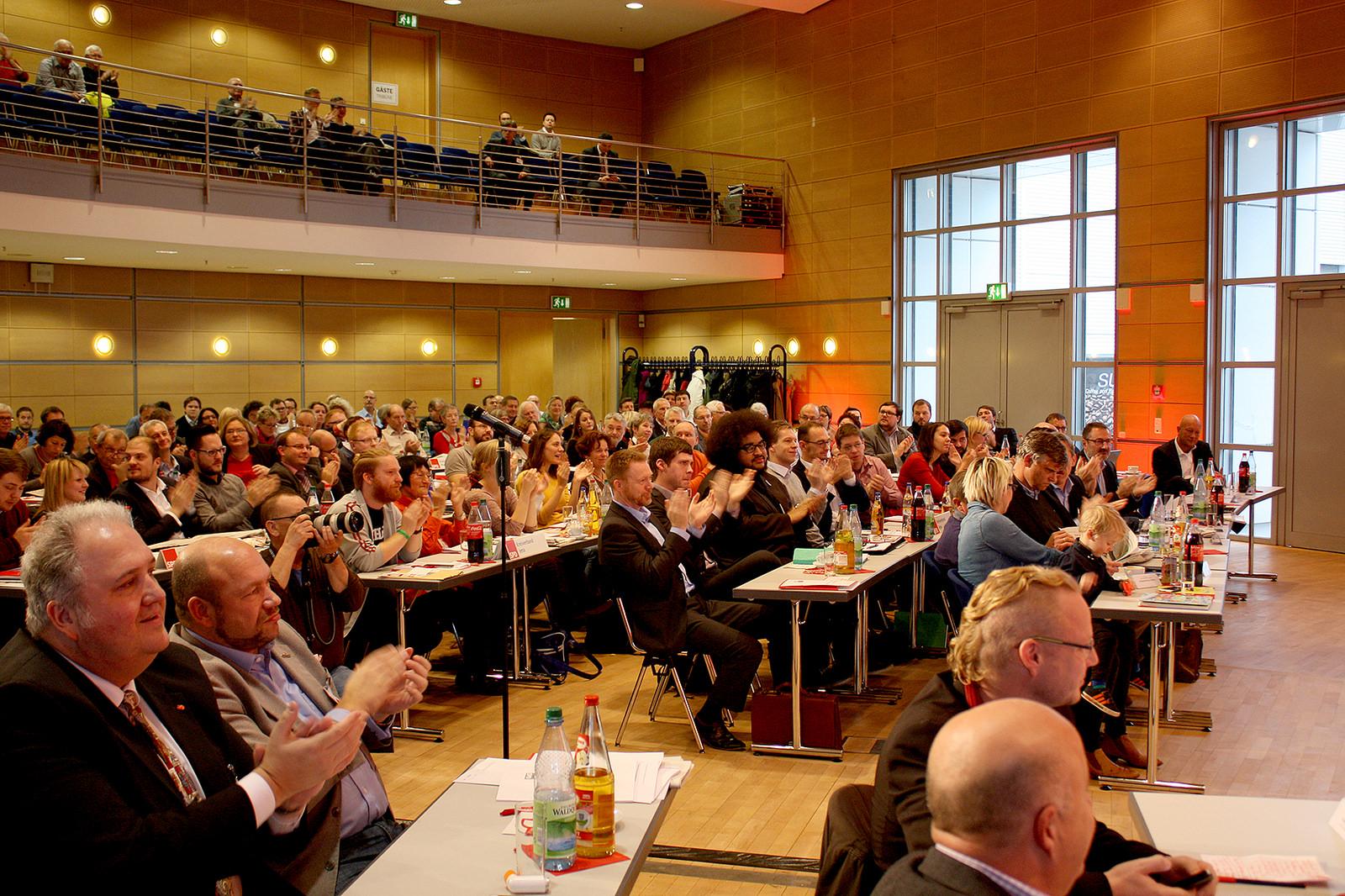 Die Delegierten auf dem Landesparteitag der SPD Thüringen